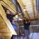 Dave Yates works on an Onix under-floor installation in Manheim, PA.