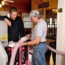 Dan learns about AttiCat insulation at James Creek, PA.