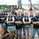 Just some of the Living Lands & Waters gang - a hard working crew.