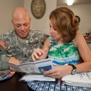 A soldier and his wife discuss energy savings - thanks to the goodness of geo.