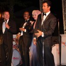 An epic performance at Bradford White's 2012 sales meeting:  Frank Sinatra, Sammy Davis Jr., Marilyn Monroe and Dean Martin reappear.