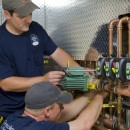Central techs complete installation of Taco VDT pumps and Zone Sentry zone valves.