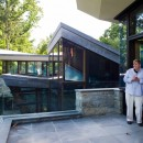 Master architect David Jameson at one of his fabulous creations near D.C.