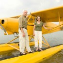Randy Seaman, Seaman's Mechanical and his lovely bride aboard their newest flying  machine.