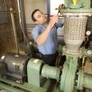A Seaman's Mechanical jobsite; Taco gear gets some routine maintenance.