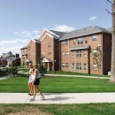 At UConn's Hilltop Apartments, students enjoy a nice day.  During the winter months, though, they'll be glad to have Laars-heated dorms.