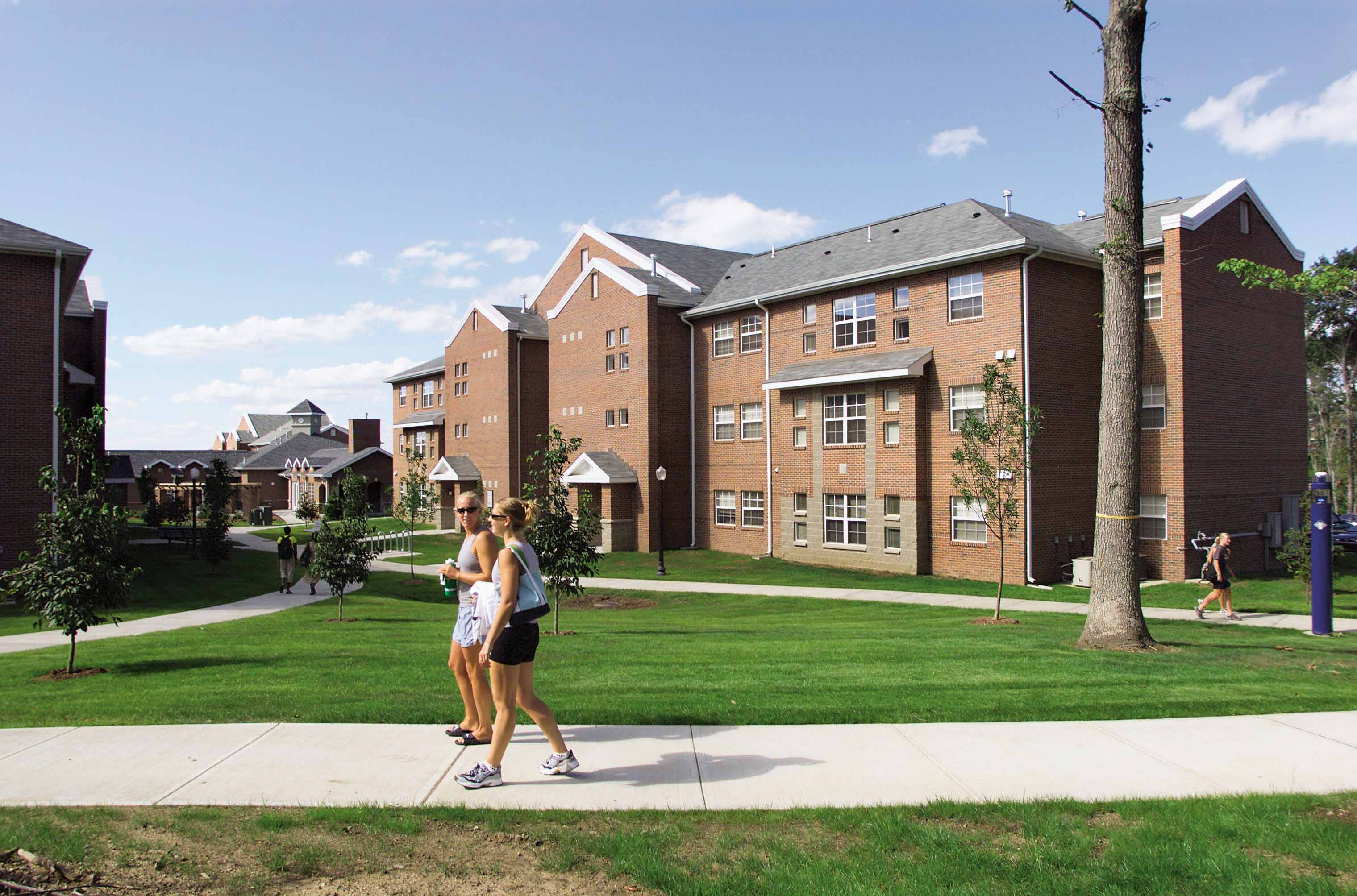 At UConnu0027s Hilltop Apartments, Students Enjoy A Nice Day. During The Winter  Months,
