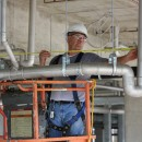Stainless steel Blücher pipe by Watts is installed at the Orleans Parish Prison kitchen facility.