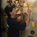 Double-checking an eF water heater install near Pittsburgh.