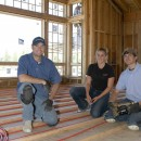 "Rachel made her first ""Radiant in the Rockies"" tour with me back in '07.  Here, she helps install a radiant heat system in Jackson, Wyoming."