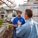 John V. with Sigman installers at a jobsite in St. Louis.