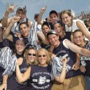 UConn students cheer for Laars.